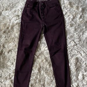 American Eagle high rise jeggings 6 short
